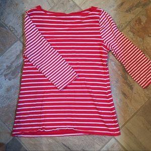 Merona boatneck striped top